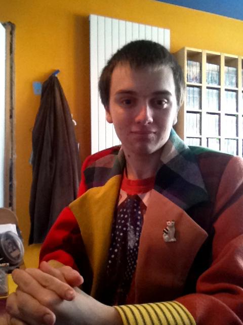 Andrew in his Dr Who coat.