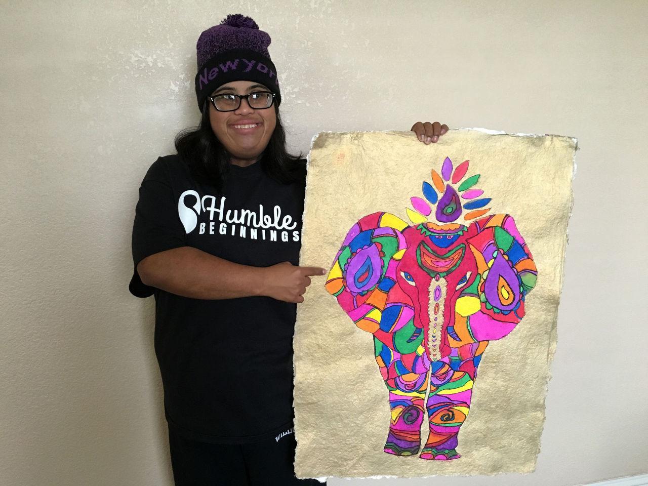 Natasha with her art