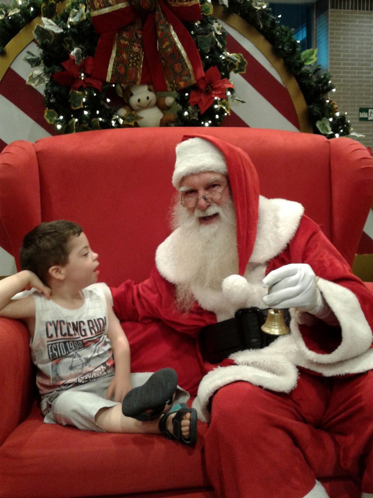 Samuel Zoeller and Father Christmas!