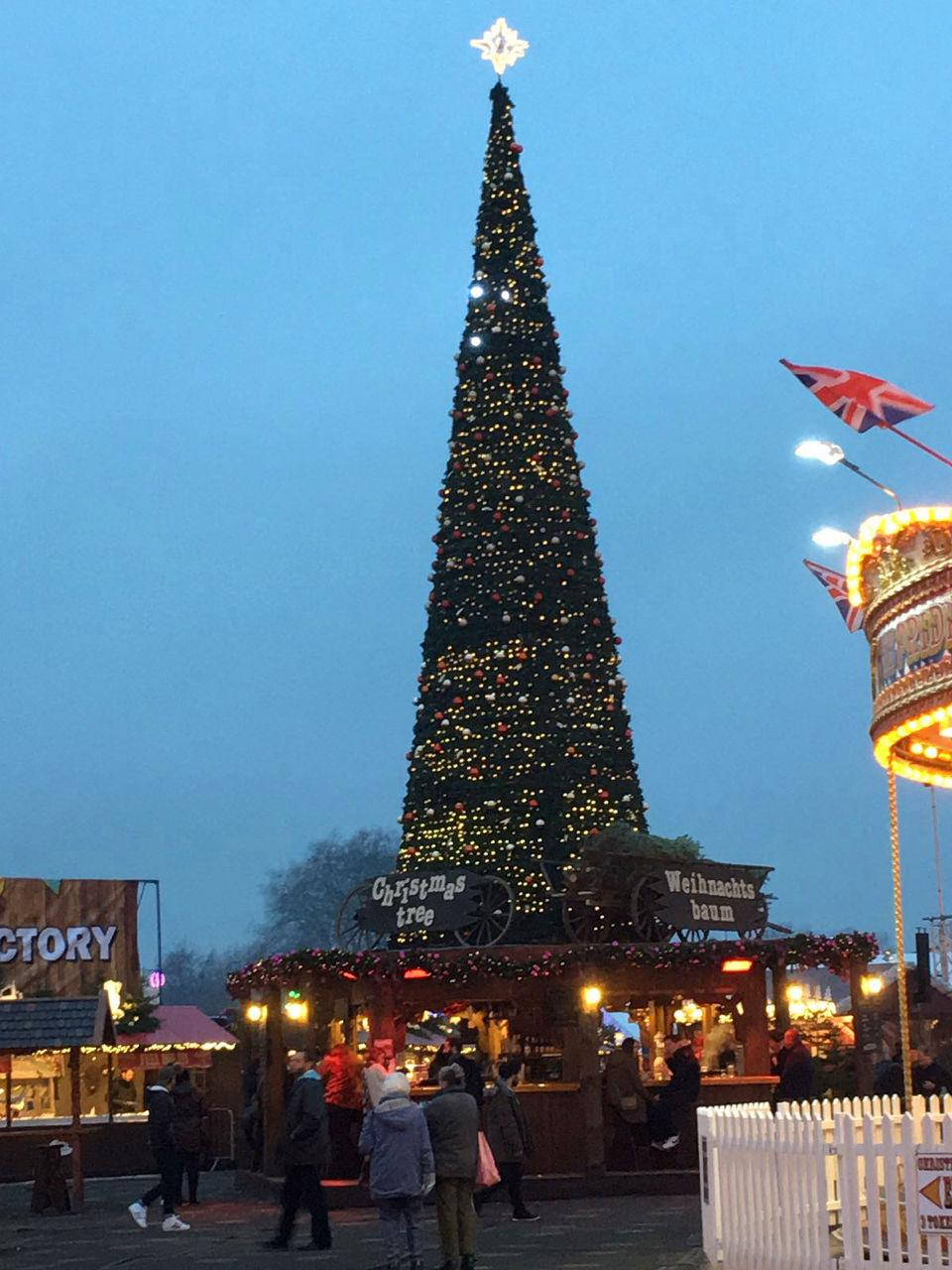 Xmas tree at Winter Wonderland.