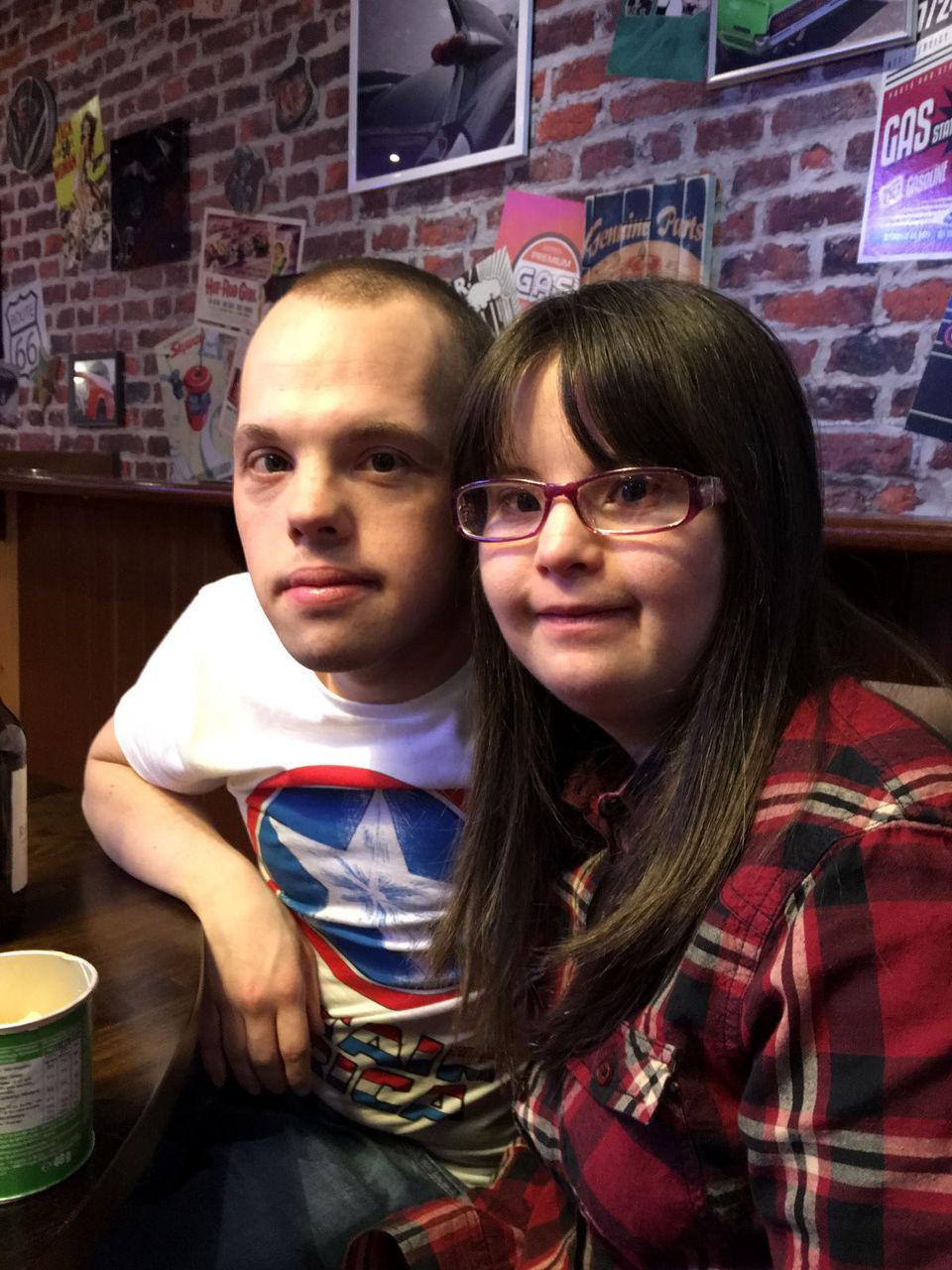 Megan and Sam at bowling.