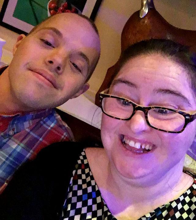 Sam & Hilly selfie.