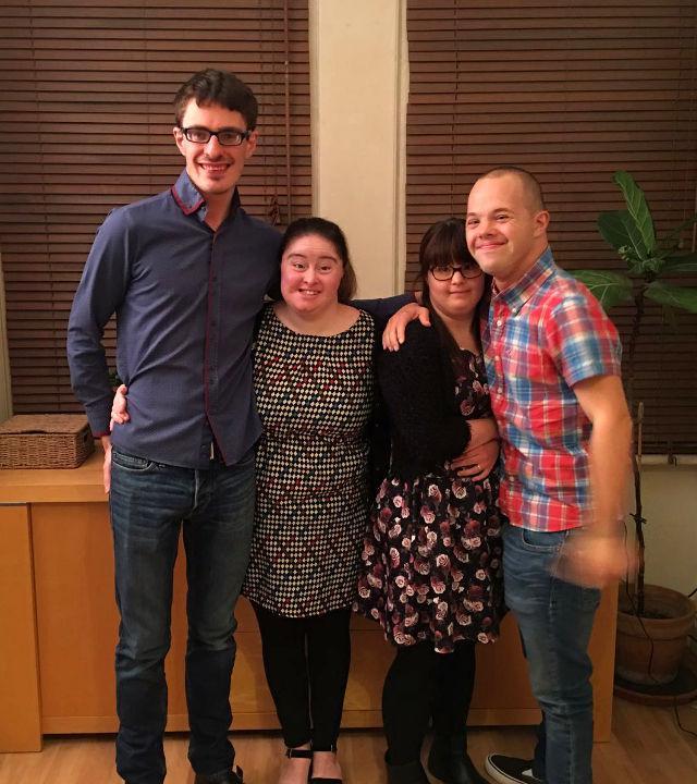 Lewis, Hilly, Megan & Sam.