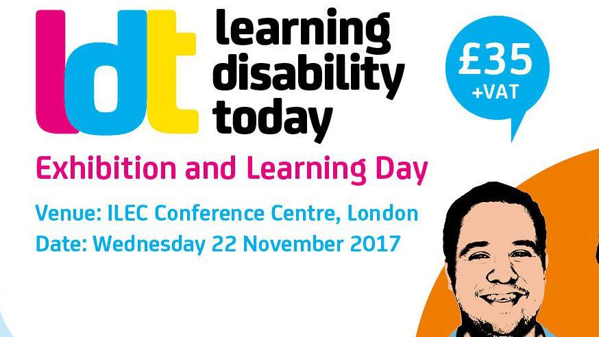 An advert for the Learning Disability Today exhibition.