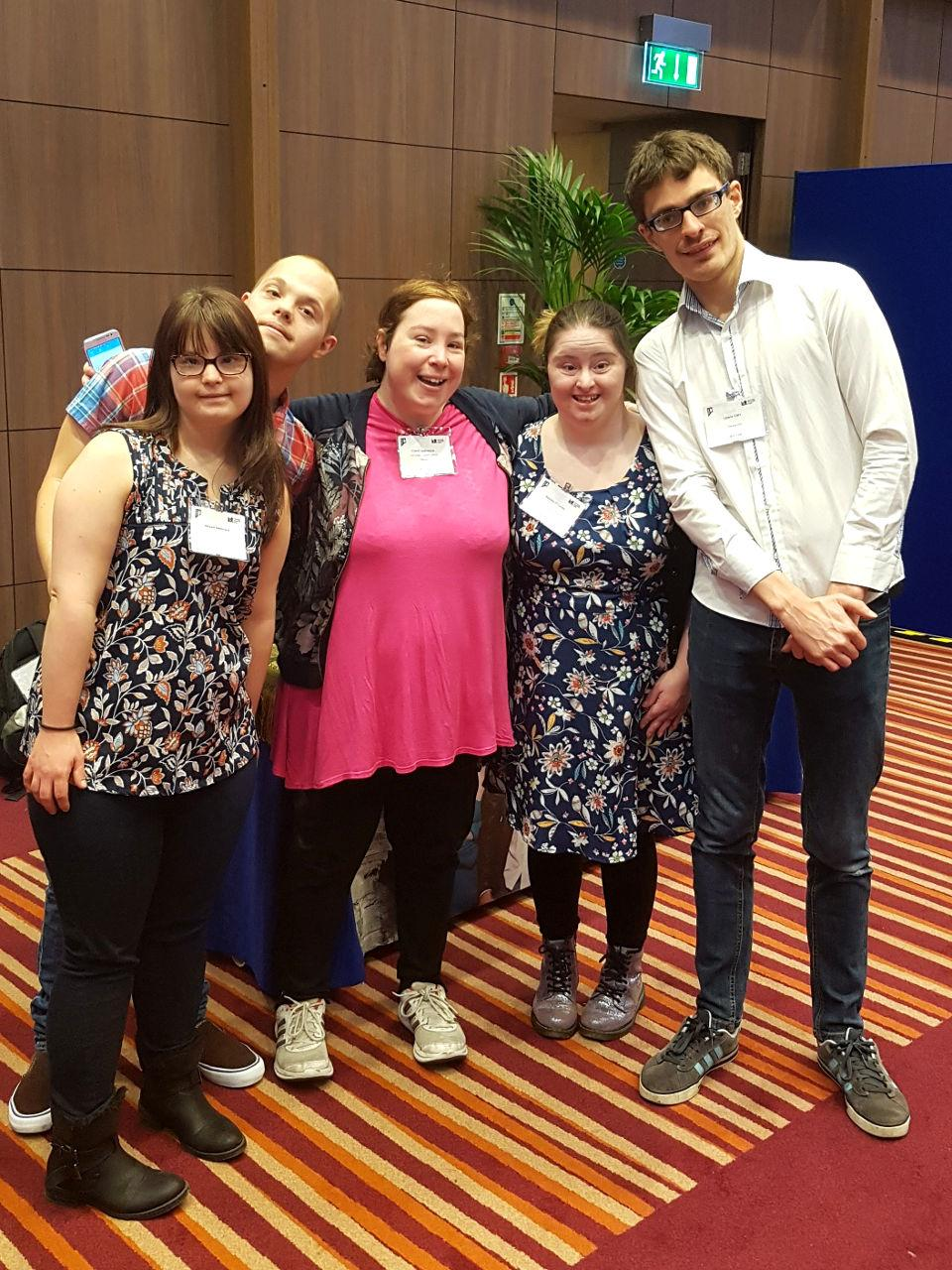 The gang with Ciara who works for Mencap.