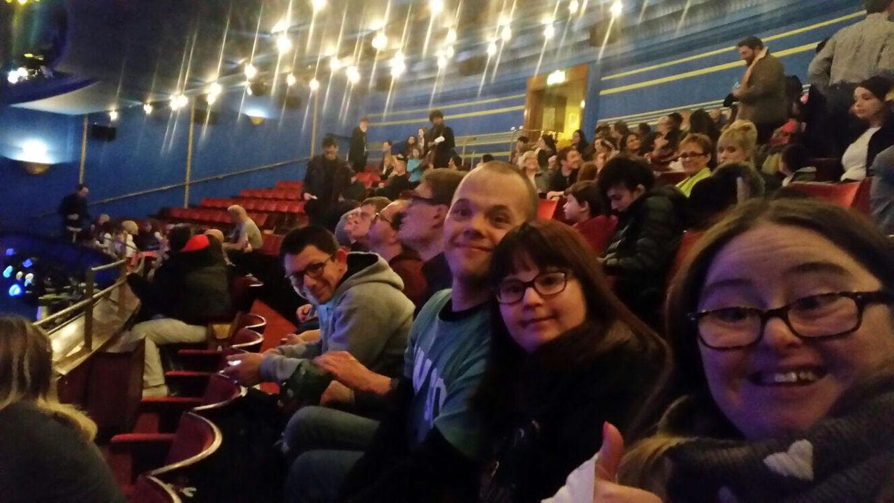 The gang sat down to see a West End show.