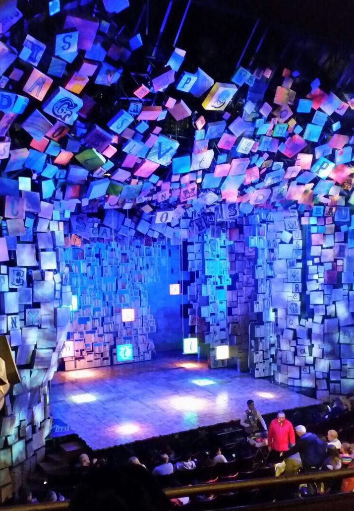 The stage where the musical Matilda is about to be performed.