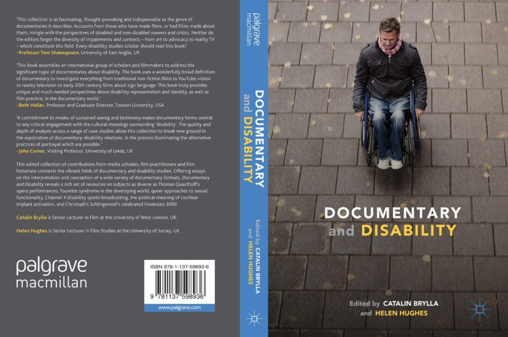 "Cover of book ""Documentary & Disability""."