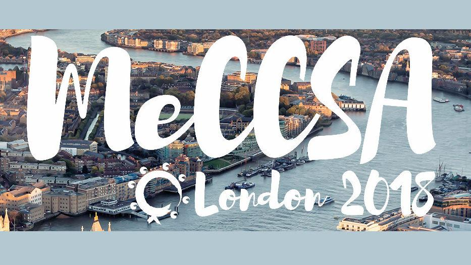 Banner for MeCCSA London 2018.