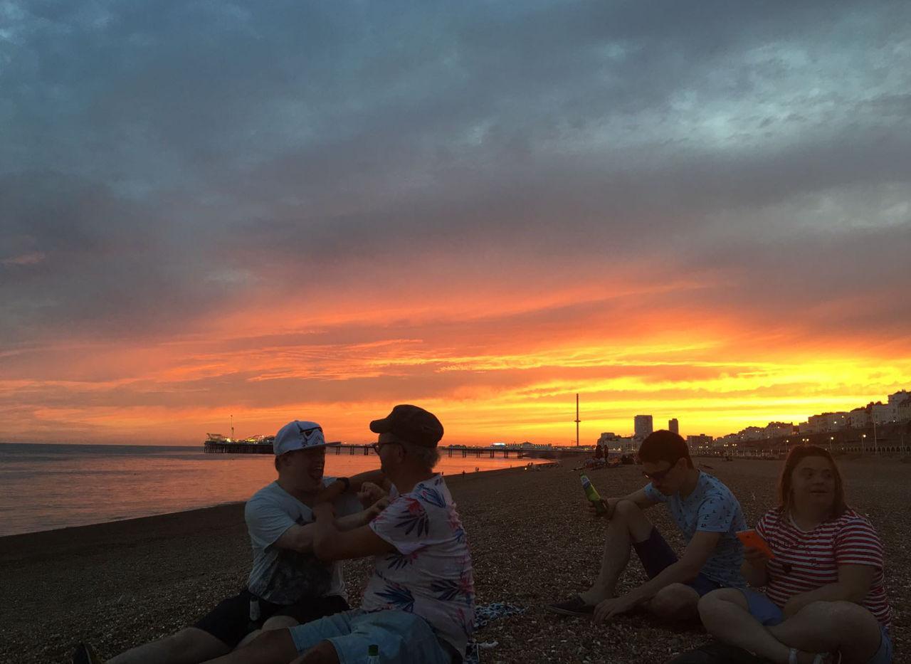 Beach sunset at its most beautiful.