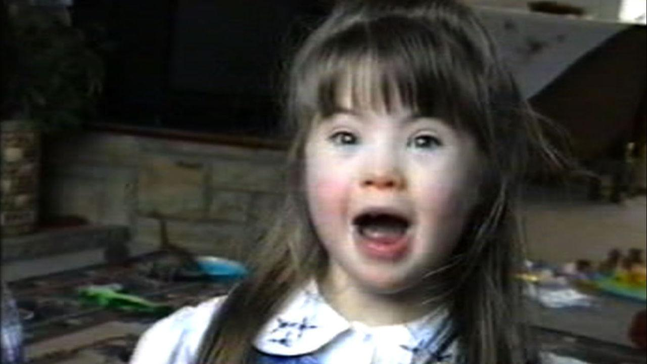 A 5 year old Megan singing Christmas carols.