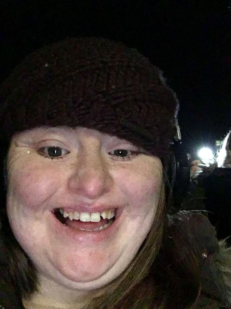 Hilly selfie at firework night.