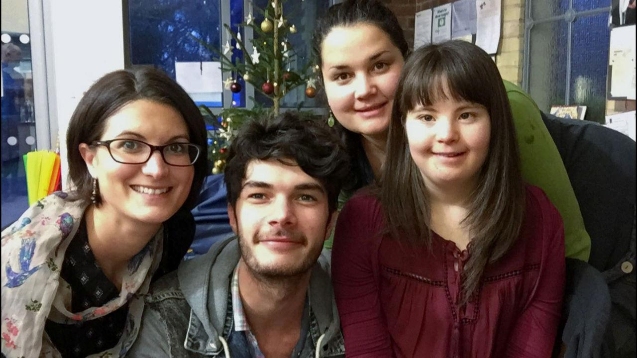 Megan with her siblings in 2015.