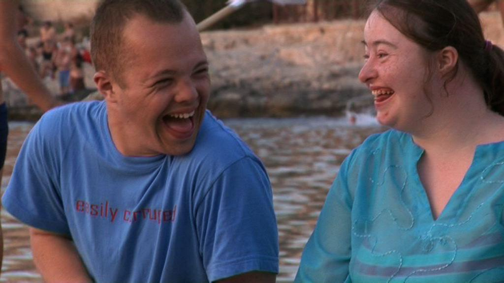 Sam and Hilly laughing while on holiday in Malta.