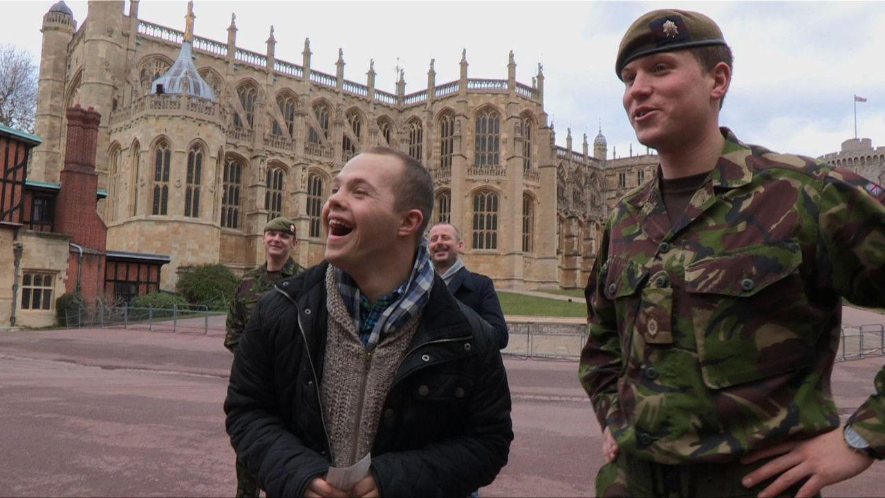 Sam at Windsor Castle.