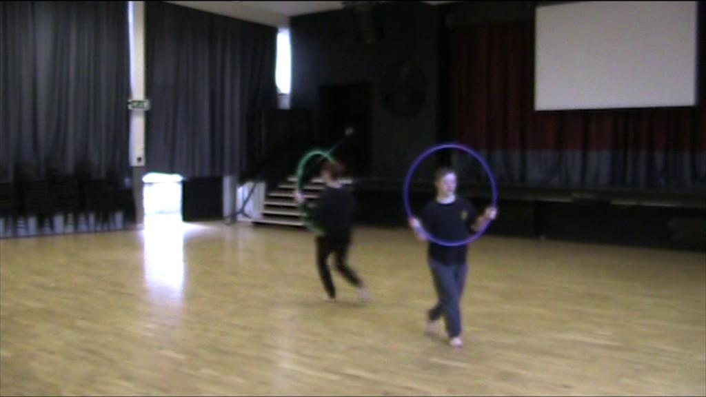 Zach rehearsing his GCSE dance routine with his teacher