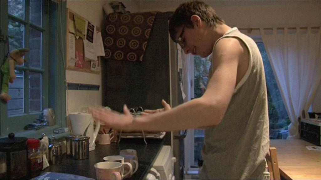 Lewis making tea